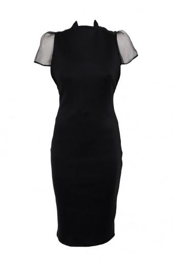Amanda May Bodycon Dress With Organza Blouse