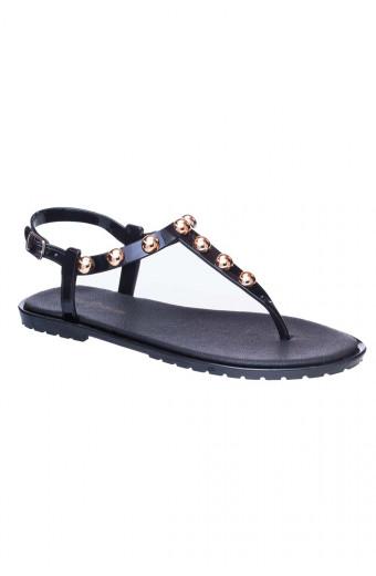 SAINT&SUMMER Luxe Jelly Sandal - Black