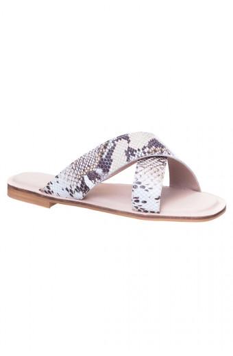 SAINT&SUMMER Lacy Sandal - Snake Print