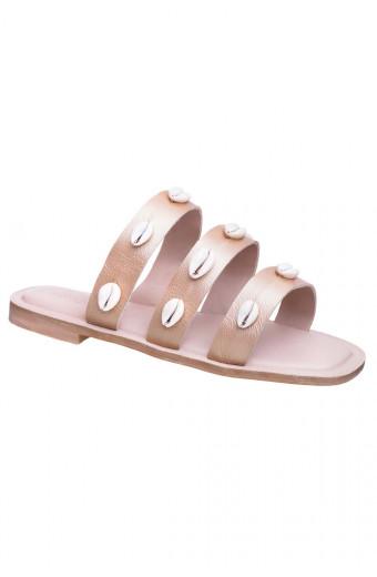 SAINT&SUMMER Lush Sandal - Gold & Natural Shells