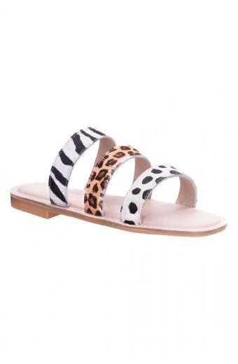 SAINT&SUMMER Lush Sandal - Mixed Animal Print