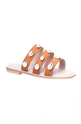 SAINT&SUMMER Lush Sandal - Tan & Natural Shells
