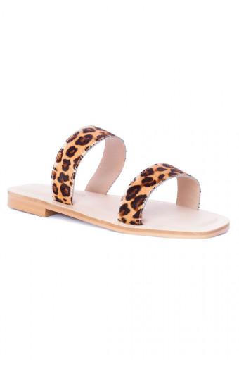 SAINT&SUMMER Luna Sandal - Leopard Print