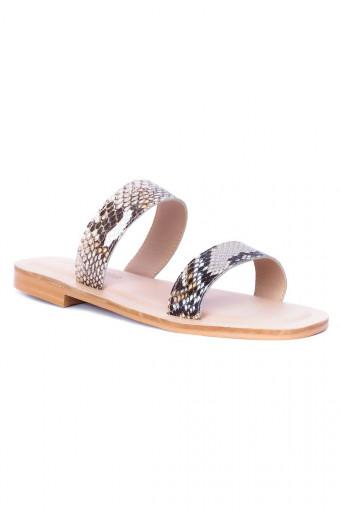 SAINT&SUMMER Luna Sandal - Snake Print