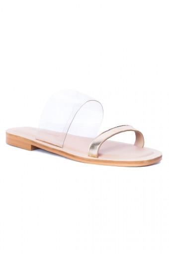 SAINT&SUMMER Linger Sandal - Gold & Clear