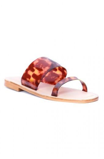 SAINT&SUMMER Linger Sandal - Tortoise Shell