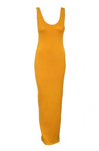 SassyChic Emma Extra-Length Maxi Dress - Curry