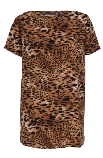 SassyChic Cher Tunic Dress - Animal Print