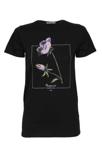 SassyChic Floral Tee - Black