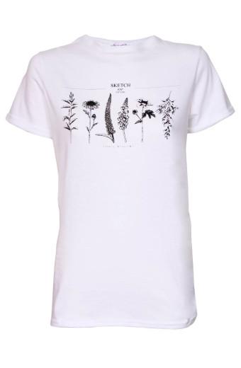 SassyChic Floral Tee - White