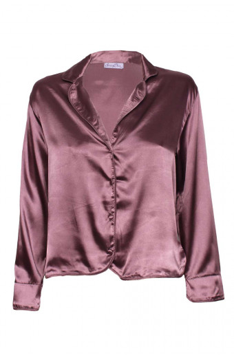SassyChic Satin Pyjama Top