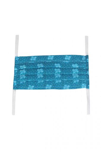 SassyChic Fabric Face Mask - Blue Print