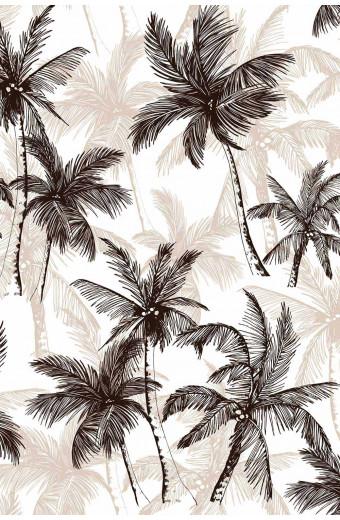 SassyChic Peel & Stick Wallpaper - Monochrome Tropical Palms