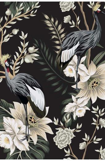 SassyChic Peel & Stick Wallpaper - Vintage Garden Birds