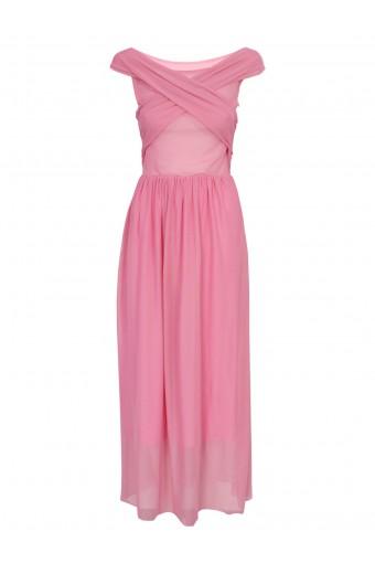 SassyChic Marilyn Dress - Soft Pink