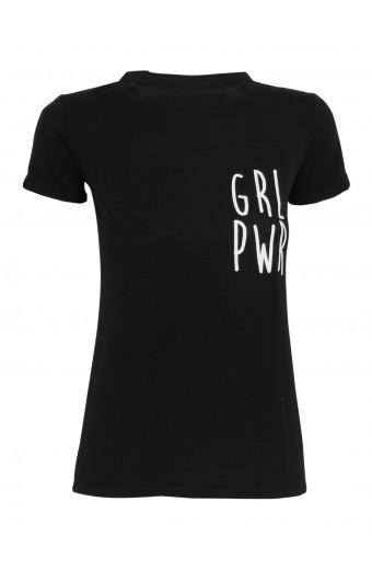 SassyChic GRL PWR Tee - Black