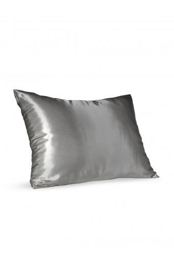 SassyChic Satin Pillow Case - Silver Grey