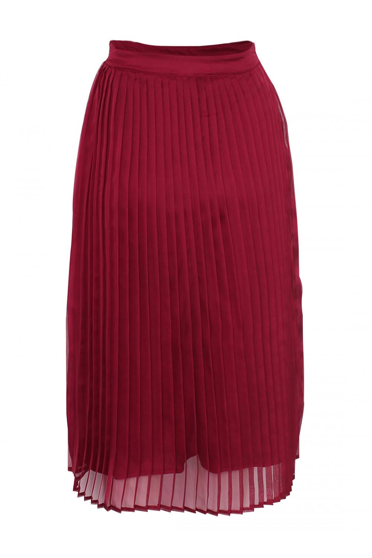 sassychic pleated skirt burgundy