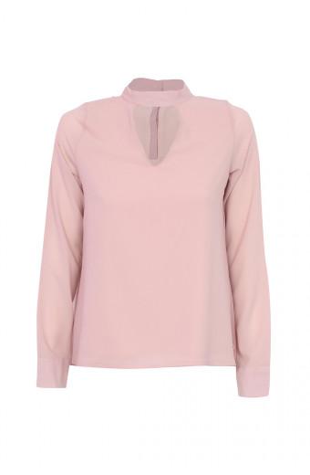 SassyChic V Blouse – Champagne Pink