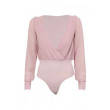 SassyChic Bodysuit Blouse - Rose quartz
