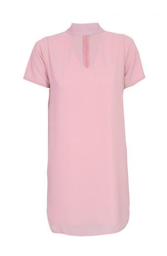 SassyChic V Dress - Rose Quartz
