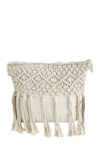 Artesense Macrame Scatter Cushion - Diamond Tassel