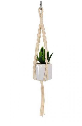Artesense Mini Twister Macrame Plant Hanger - Natural