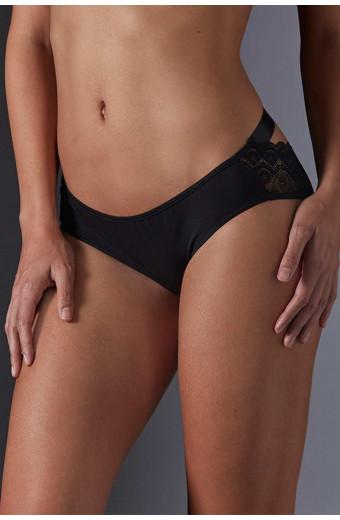 JSM Lingerie Pivoine Tie Me Up Pantie - Black