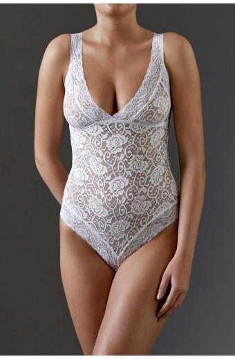 JSM Lingerie Caress Me Bodysuit - White