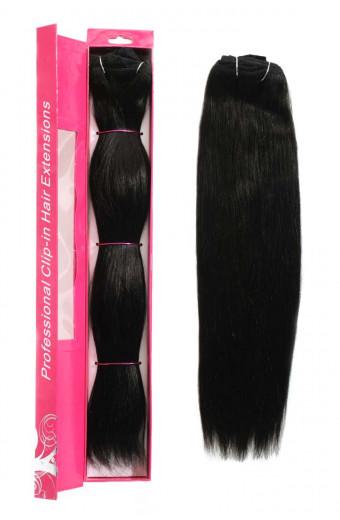 NicciG Clip-in Hair Extensions - Dark Brown