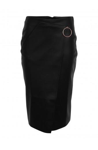 Brett Robson Olivia Faux Wrap Skirt - Black
