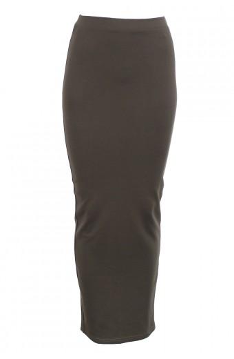 Brett Robson Bodycon Maxi Skirt - Khaki