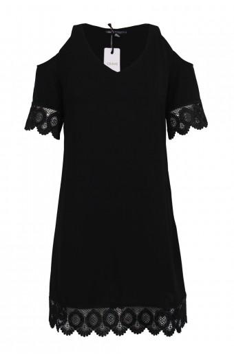 CRAVE Cold Shoulder Dress - Black