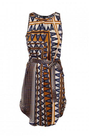 CRAVE Sleeveless Printed Dress