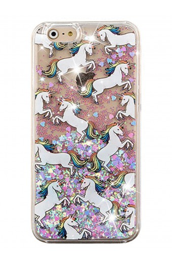 Levitech Glitter Waterfall Unicorn Phone Case