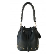Rebel Roze Bucket Bag - Black