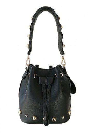 Rebel Roze Bucket Bag - Black