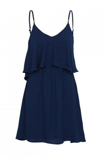 Tasha's Boho Frill Dress - True Blue