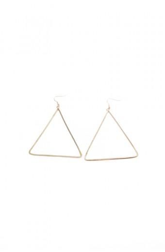All Heart Oversized Triangle Earrings