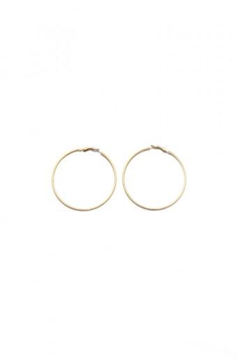 All Heart Matt Gold Hoop Earrings