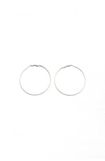 All Heart Matt Silver Hoop Earrings