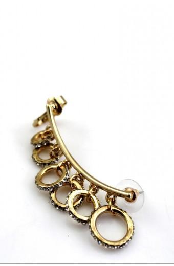 All Heart Gold Rhinestone Ear Cuff