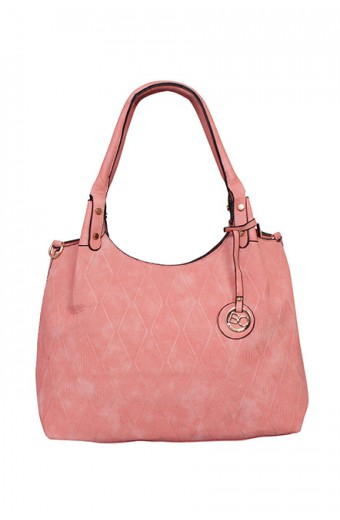 Blackcherry Diamond Texture Tote – Pink