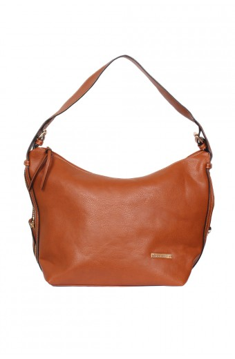 Blackcherry Boho Slouched Tote - Tan
