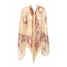 Blackcherry Kimono - Pleated Floral