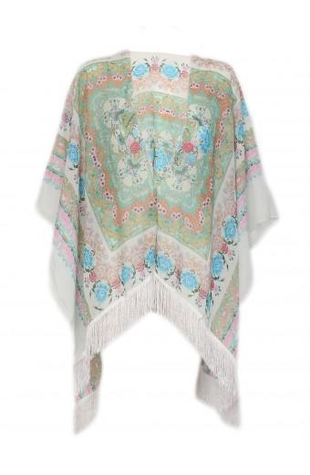 Blackcherry Kimono - Blue Floral