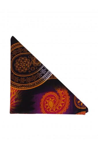 Buhle Turban Wrap - Purple & Yellow