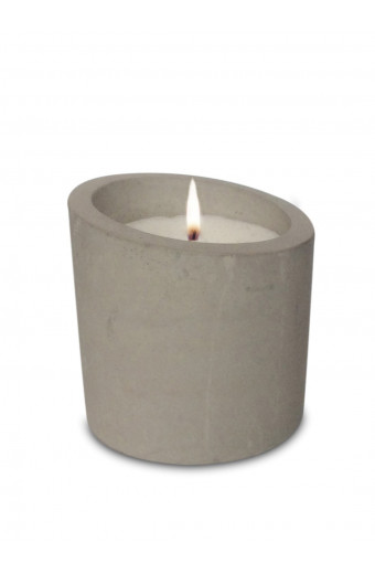 Charisma Candles Char Raw Cement Candle - Slanted Top