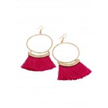 Artinmywardrobe Tassel Earrings - Pink