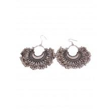 Artinmywardrobe Metal Bead Earrings - Silver